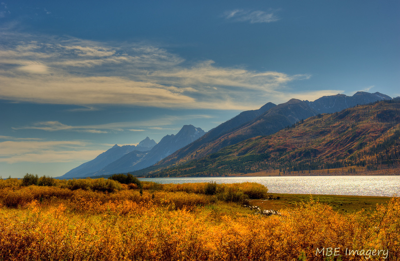 Grand Tetons seen from Jackson Lake