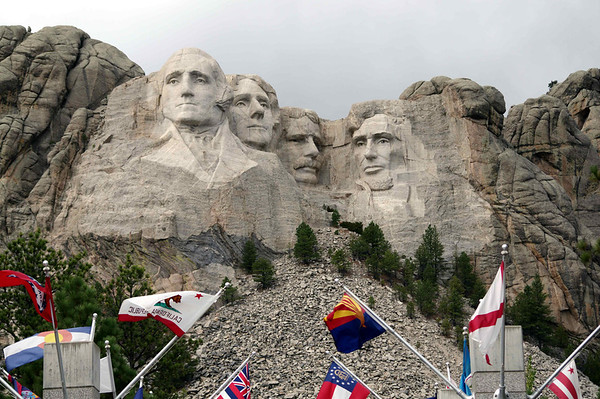 Mt Rushmore NP, SD (many visits)