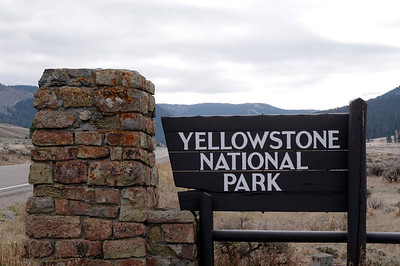 NW entry to Yellowstone