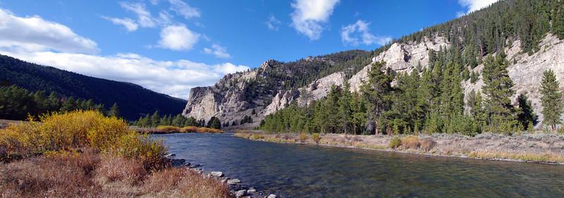 Gallatin River south of Big Sky, MT