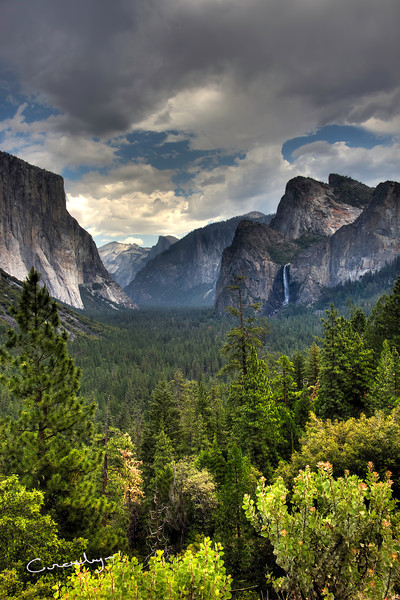 Tunnel View Storm Approaches, Yosemite N P