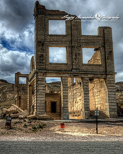 Cook Bank in Rhyolite Ghost Town, Death Valley, April 8, 2009