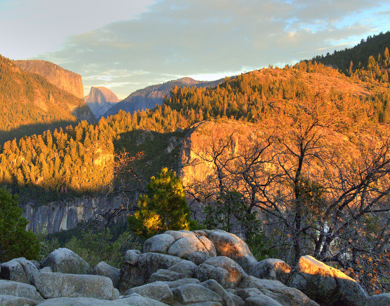 Yosemite Valley with Half Dome in the background, Yosemite National Park, California