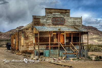Deserted Mercantile, Rhyolite Ghost Town, Death Valley, April 8, 2009