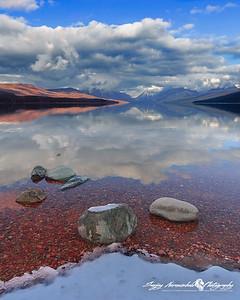 Lake McDonald in Glacier National Park, Montana, November 26, 2008
