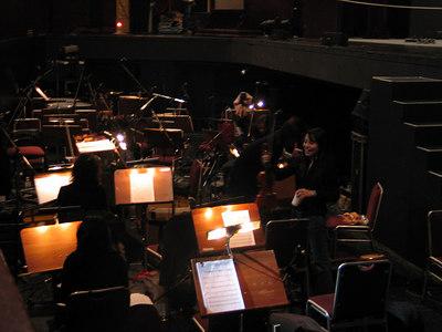 Orchestra rehearsal