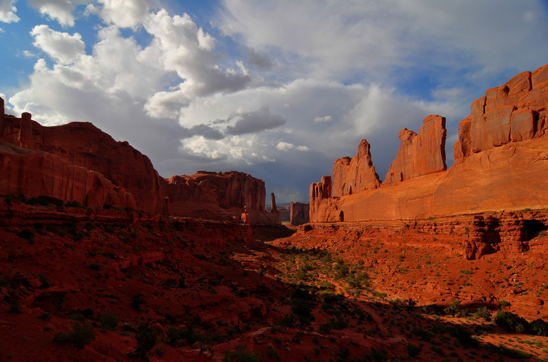 Park Avenue at Arches National Park<br /> Park Avenue at Arches National Park, Utah.