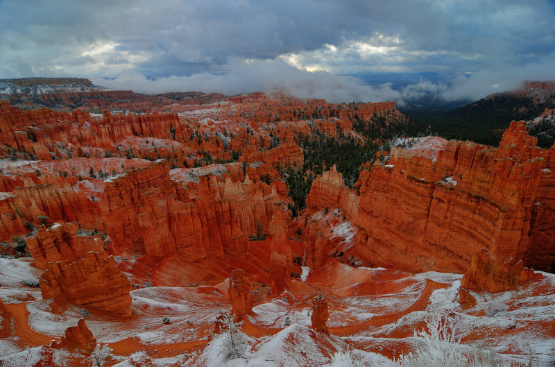 Bryce Canyon Enveloped in Snow