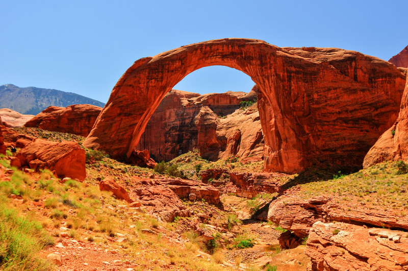 Rainbow Bridge National Monument. Large enough to fit the Statue of Liberty under its arch.