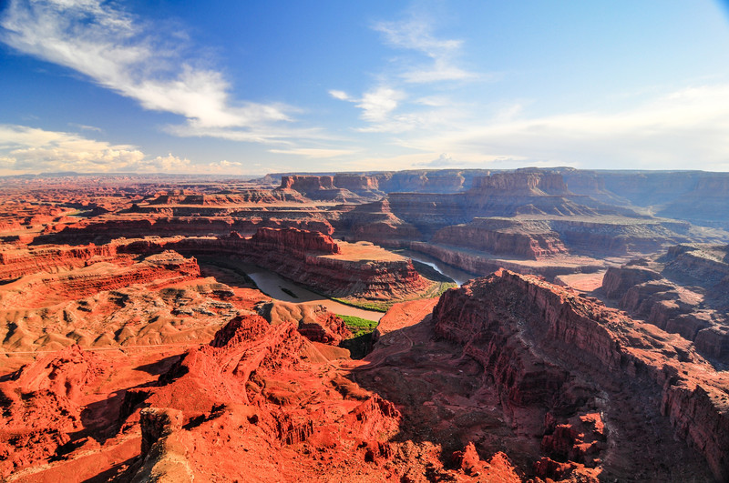 Dead Horse Point State Park, Utah, USA. Wide-angle view.