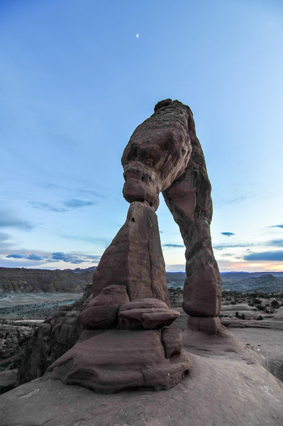 Delicate Arch of Arches National Park at Sunset<br /> View of Delicate Arch at Arches National Park, Utah