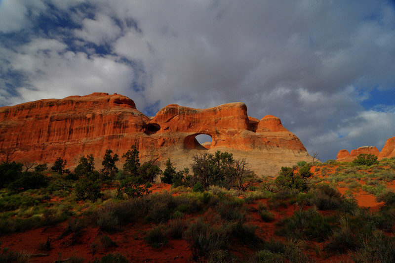 Dramatic Landscape of Arches National Park<br /> View of Arches National Park, Utah