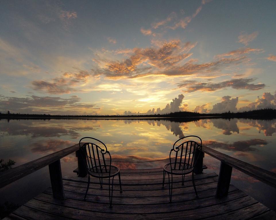 Sunrise at the dock. Beautiful!!