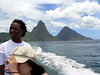 Behind us, on the left the Petit (small) Piton, which looks larger from here, and the Gros (large) Piton.