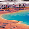 Enyoing Yellowstone - Grand Prismatic Spring in Yellowstone, Wyoming.
