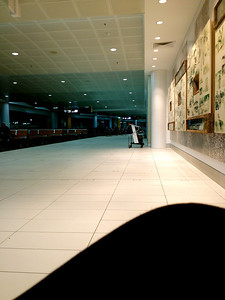 Charging the appliances in the empty area of the airport because well, there isnt a lot of people who fly to Nauru.