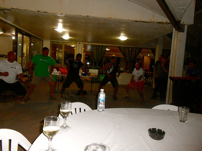 Haka at the BBQ Fundraiser Dinner for Nauru Power Lifting Team to get to Sydney to compete.