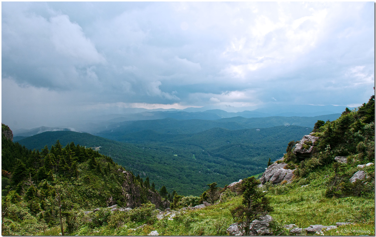 View of blue ridge mountains from grandfather mountain <br /> 5946 ft above sea level