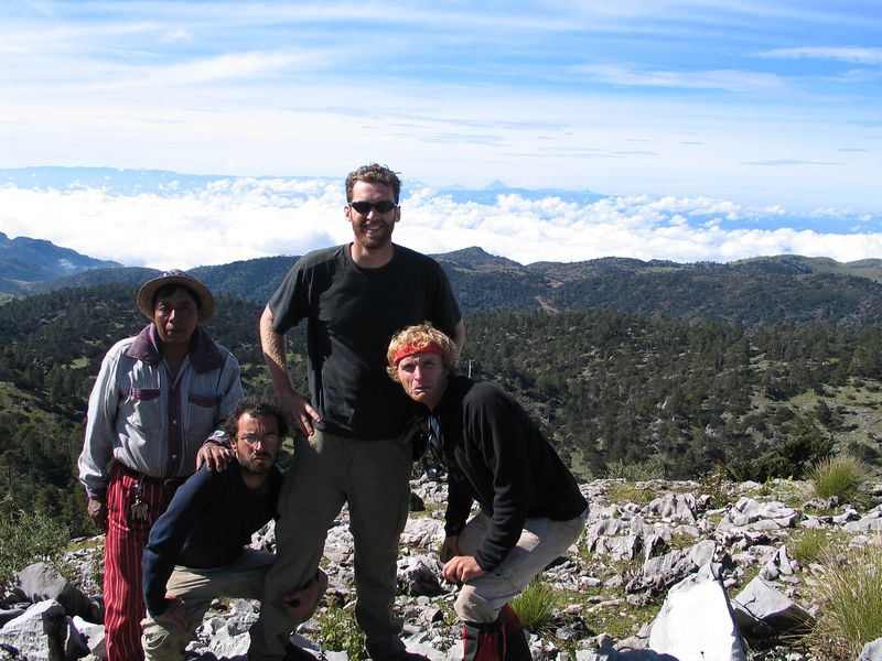 The local guide Geranimo with the rest of the gang.
