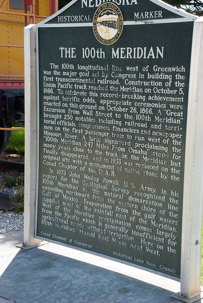 Interesting sign about the 100th Meridian, which shows even in the 1866 Congress took boondoggles.