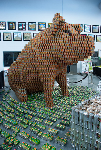 At the Texas State Fair we had pigs made of butter.  This is Bush Baked beans.