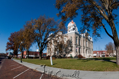 Fairbury, Nebraska Town Square Fisheye