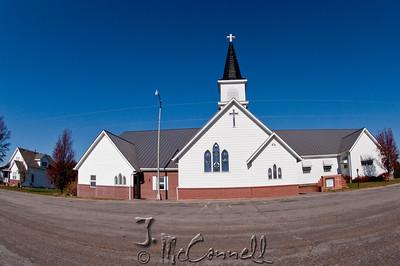 Rural Nebraska Church Fisheye