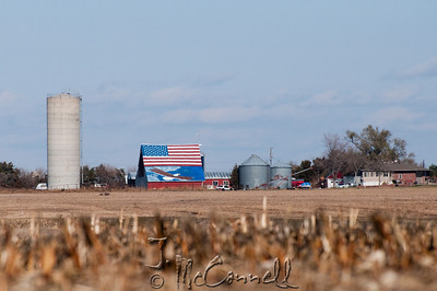 Patriotic Nebraska Barn
