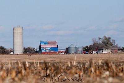 Patriotic Nebraska Barn