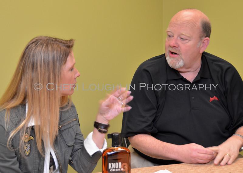 Cheri Loughlin and Fred Noe at HyVee Omaha Knob Creek Tasting