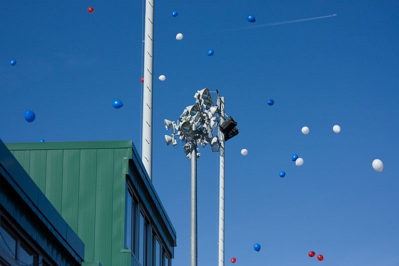 Balloons and speakers