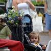 Omaha Farmer's Market - Child in Stroller w/ Flowers