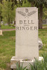 This stone gives one a chuckle for its last name.  It came about when Jane Bell married Frank Ringer.  After she becam a widow she went back to school and becam a chiropractor.  She was 98 when she died (1877-1975).