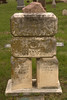 An unusual marker stacking limestone blocks with individual names for the Boyer monument.