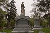 Theodore S. Ganter, born in Germany in 1832, came to America in 1851.  A large granite and marble monument.  His very rich widow, Anna R., spared no expense.