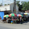 A corner fruit stands and vendors in Kabankalan,  Negros Occidental, Philippines.
