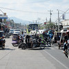 Motorcycle and tricycle transport vehicles in Kabankalan,  Negros Occidental, Philippines.