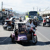 Tricycles and public transports on the street of Kabankalan, Negros Occidental, Philippines.