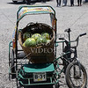 A basket of watermelons on the tricycle in the Philippines.