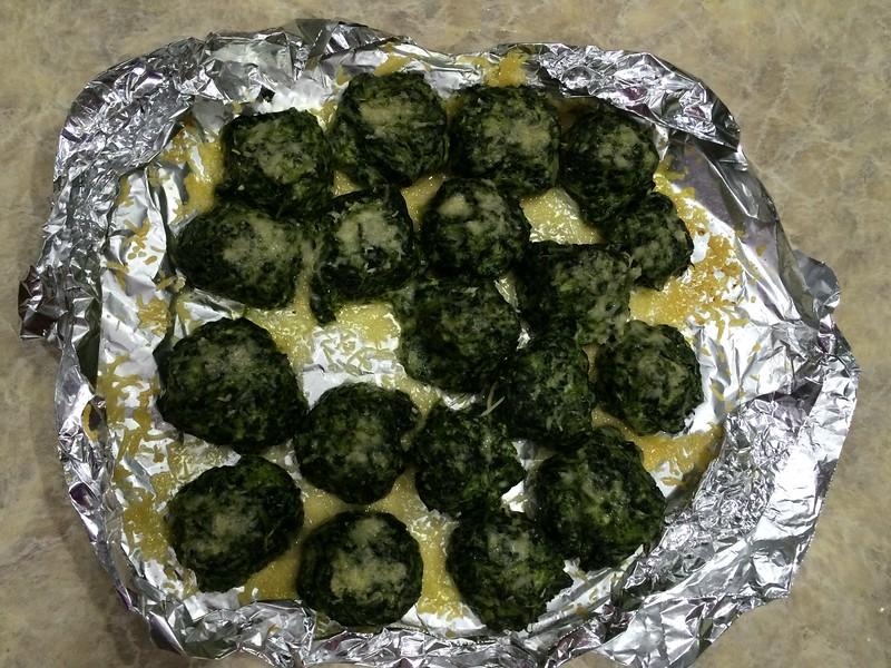 Spinach Gnocchi.  Yummy!