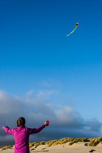 Both kites way up!