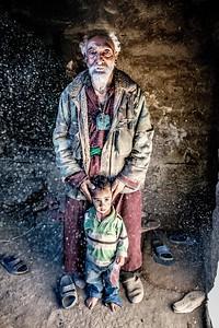Brokpa Man and child, Ladakh, India, August 2018