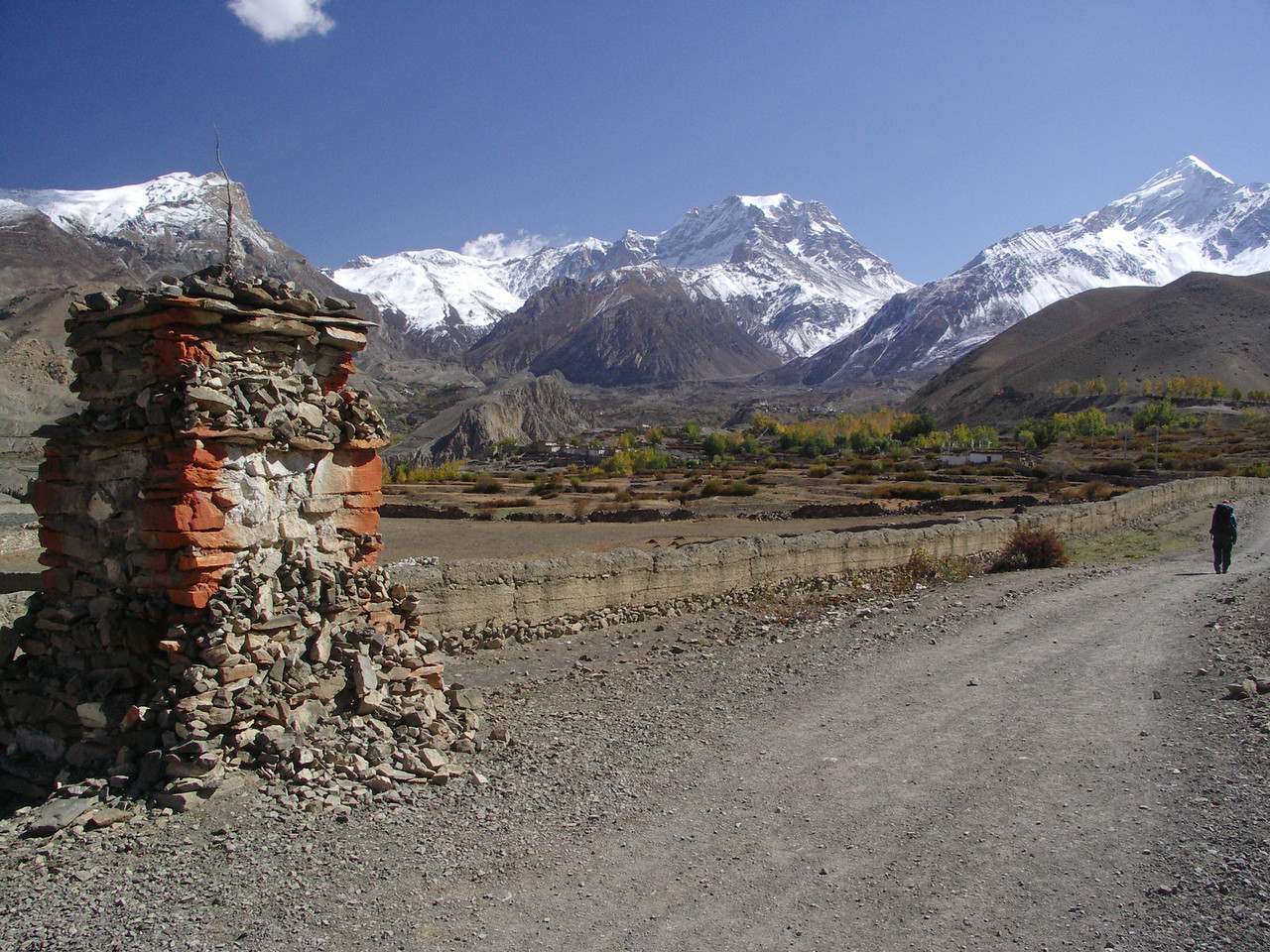 View towards Jharkot.  Annapurna Circuit