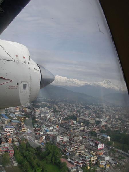 Pokhara - Jomsom flight. Pokhara