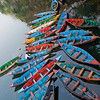 Boats at Fewa Lake. - Pokhara
