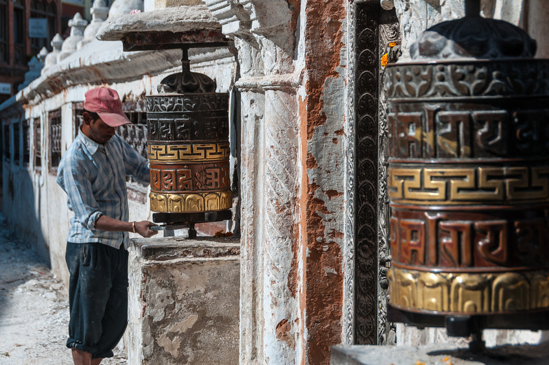 Restoration is an ongoing task at Boudha's stupa. Nepal