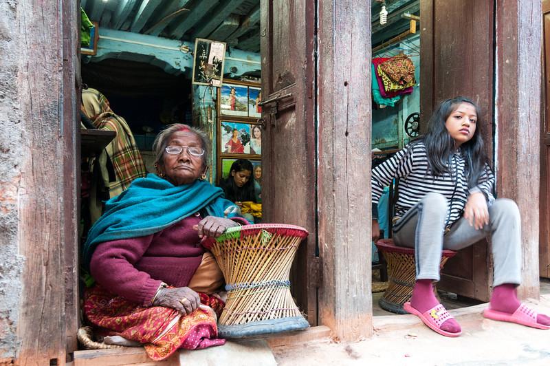 Generation gap. Bhaktapur, Nepal