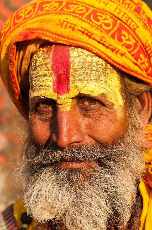 Face of a Raj King. Attire of a Holy Man. Pashupatinath, Nepal
