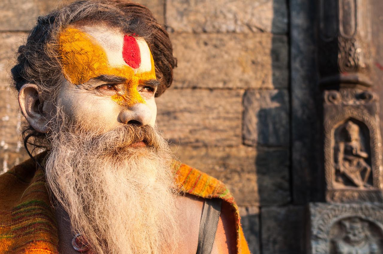 A Sadhu gazes into the future at Pashupatinath. Nepal