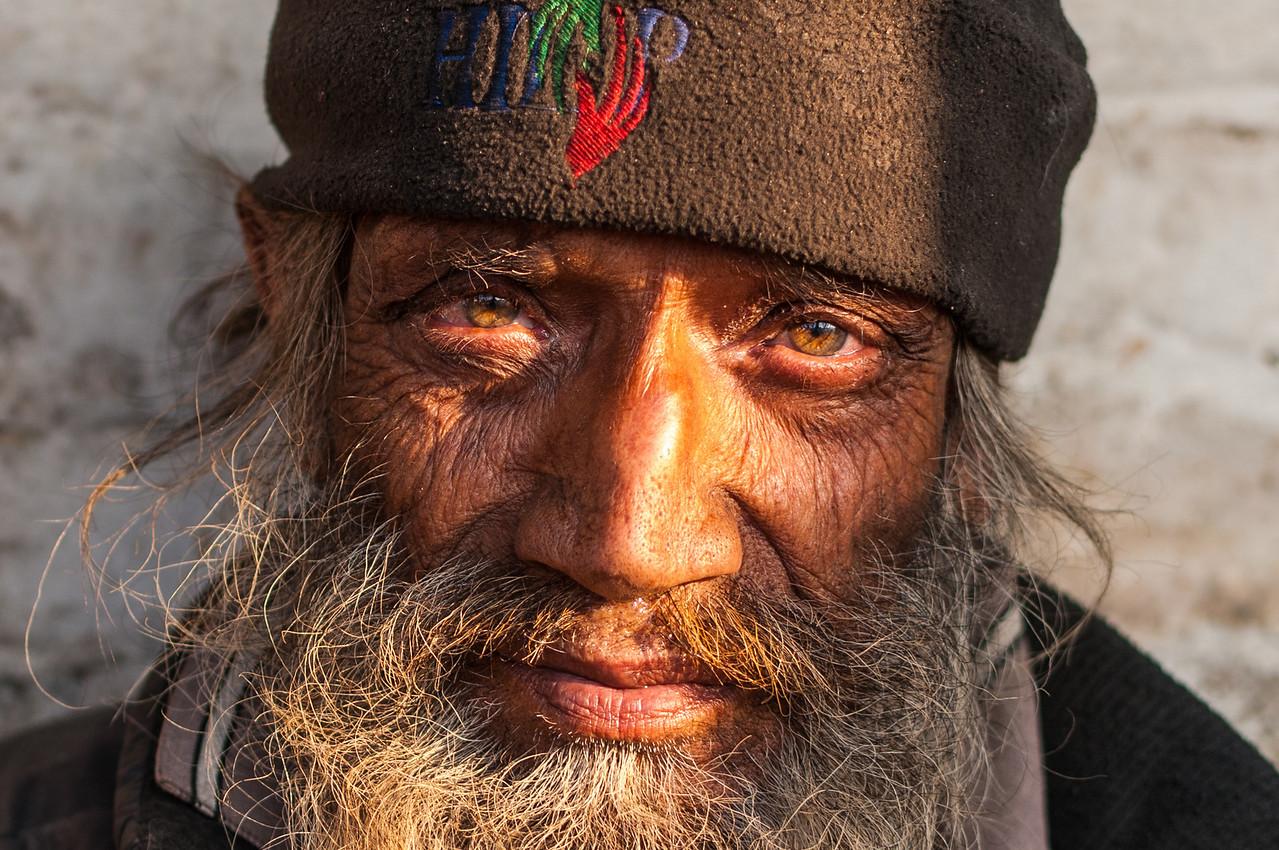 A homeless man at Pashupatinath. Nepal